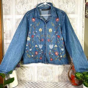 Vintage 1990's New Identity women's jean jacket